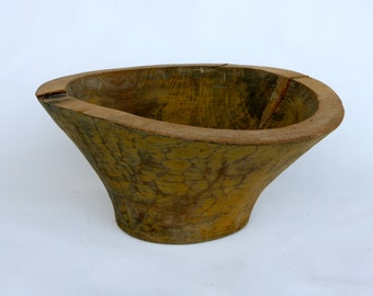 Gorgeous Italian hand carved wooden bowl