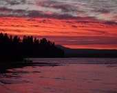 Sunset On Wickiup Lake, DIGITAL DOWNLOAD, sunset decor, lake decor, high mountain lake , fine art photography
