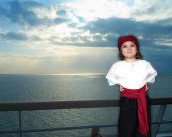 Pirate Costume, renfaire garb, kids costumes, linen clothing, theatre costumes, renaissance clothing, renfest garb