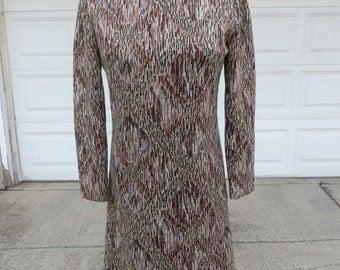 Vintage Knit Sheath Style Dress, Size Small