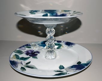 Two-Tier Cake Plate with Candlestick Base