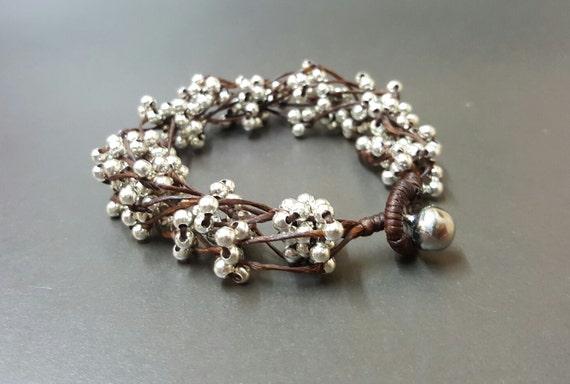 Silver Bead  Spacer Bunch Bracelet
