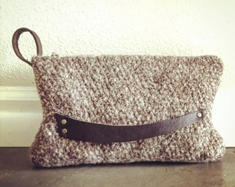 Tweed Wool Clutch