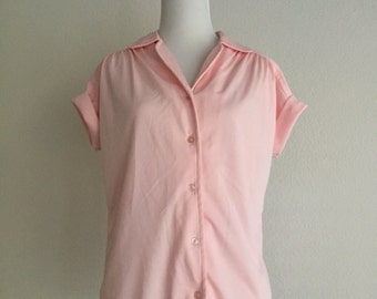 Pink Casual Button Up