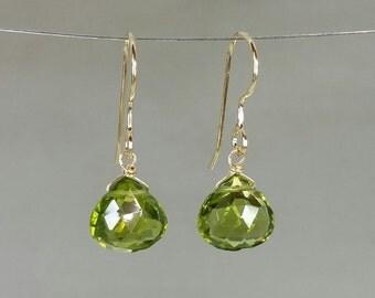 Peridot Earrings (9x9mm)