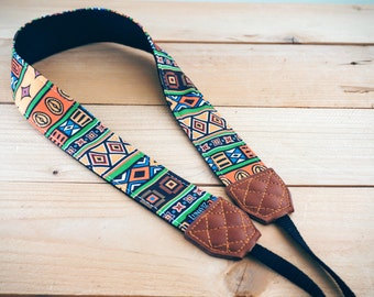 Personalize Camera Strap - Ethic Aftica for DSLR and Mirrorless