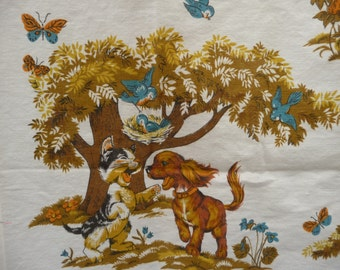 Children's Decorator Fabric---Cats and Dogs