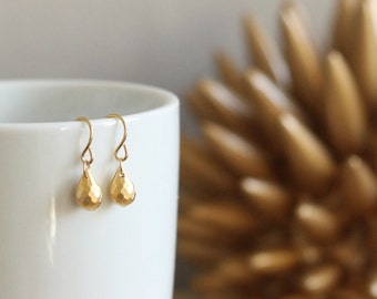 SALE Tear Drop 14kt Gold Silver Earrings Bridal Wedding Bridesmaid Dainty Feminine Gift