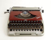 RESERVED: Typewriter Groma Kolibri, Duotone Silver Maroon