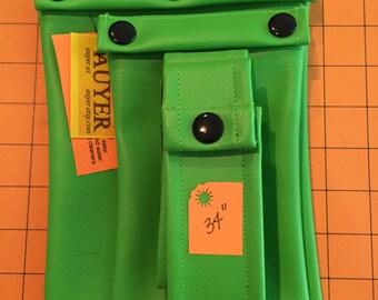 "CLEARANCE 60%OFF: Lime 2 pocket set with belt 34"""
