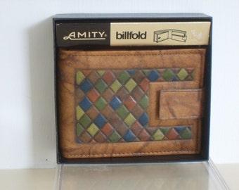 """Vintage """"AMITY"""" Mens Billfold/Wallet"""