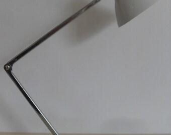 "Vintage Mid Century Desk Lamp by ""TENSOR"" in White"