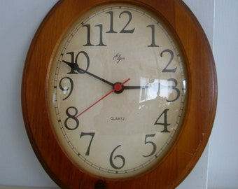 Elgin Wall Clock Etsy
