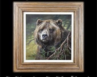 Grizzly Bear Painting - Original Wildlife Painting - Grizzly Bear Paintings - Wild Bear Paintings