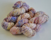 Hand dyed yarn pick your base - Fiesta - sw merino cashmere nylon fingering dk worsted