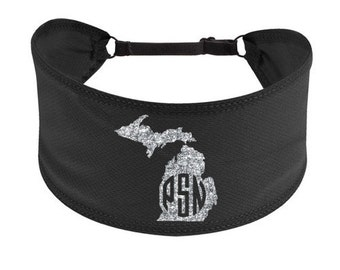 Michigan Monogram Adjustable Non-Slip Headband