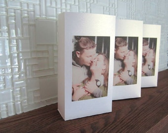Luminary Table Numbers with Photo -  Perfect for Weddings, Rehearsals or Any Special Occasions