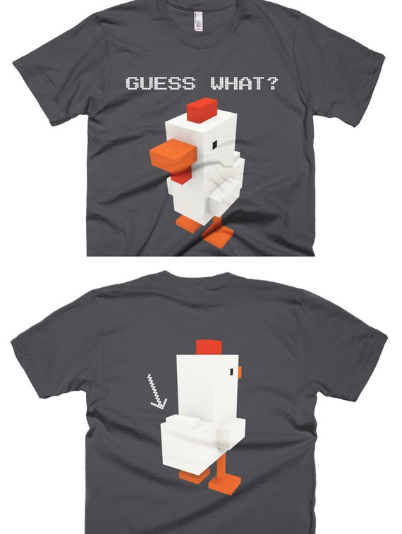 Guess What, Chicken Butt Boxel Gamer T-Shirt (Front & Back) - Fine Jersey Fit
