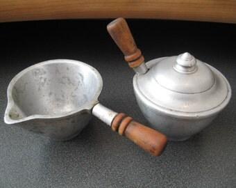 Vintage Stede Pewter Cream and Sugar Set
