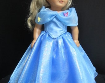 "Cinderella Ball Gown--Fits 18"" American Girl  SPECIAL ORDER ONLY"