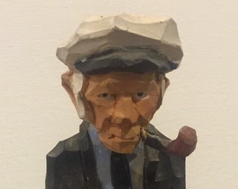 Hand Carved Salty Sea Captain Statue