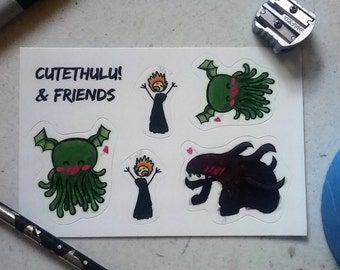 Cthulu and Friends Sticker Sheet