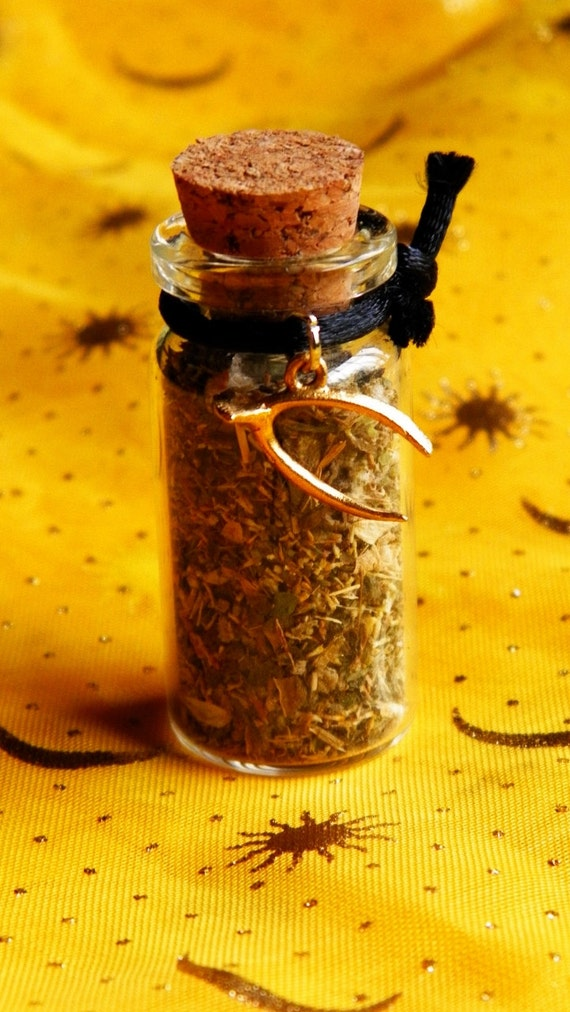 Fast Cash Witch Bottle handmade Money Herbal Blend Ritual Supply Charm Talisman incense