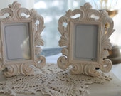 Romantic wedding,  ivory white picture frames,French chic,Shabby frames,cottage decor,wedding decor