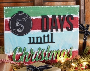 Unfinished Christmas Countdown Calendar Kit! Adorable for the Winter season!