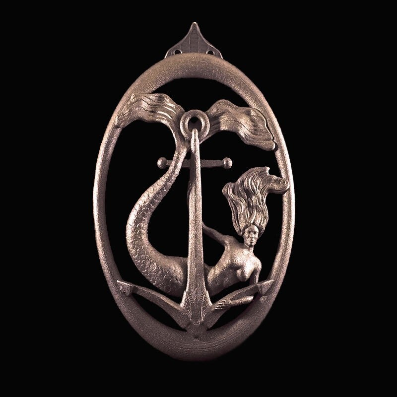 Mermaid door knocker wall art - Mermaid door knocker ...