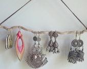 Driftwood Australian Beach wood earring holder - For larger hooked earrings