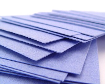 Blue handmade paper cardstock, cut edges, recycled, 10 small sheets, 4.25 x 5.5 inch