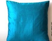 Teal Blue Pillow, Blue Pillow, Accent Pillow, Blue Throw PIllow, Blue Pillow Cover, Blue Cushion, 18x18 pillows, Decorative PIllow