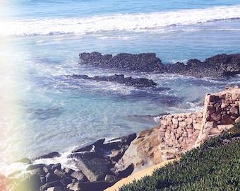 California Photography, Caramel Beach Photo, Vintage Photo, Ocean, Wall Art, Decor