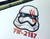 Star Wars Finn Illustration (Original)