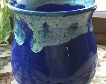 Handmade Vase in Cobalt Blue