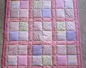 "BABY GIRL Patchwork Quilt - 33"" x 33"""