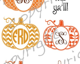 aztec pumpkin quatrefoil pumpkin frame monogram, cut file, vinyl ready design, SVG file, silhouette file, cricut file, ready to cut, fall