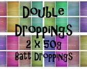 Spinning batts - 2 x 50g batts - 3.5oz - Batt Droppings - DOUBLE DROPPINGS