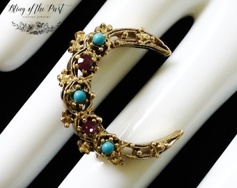 Crescent Moon Pin Vintage Jewelry