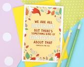 Fantastic Mr Fox Quote Card. Fantastic Mr Fox. Literary Quote. Fox Illustration. Book Quote. Book Lover. Literary Gifts. Fox Card. Quote.