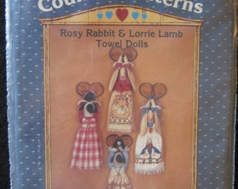 Rosy Rabbit and Lorrie Lamb Towel Dolls