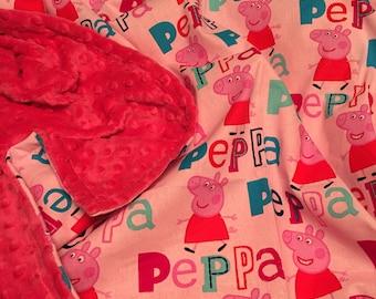 Peppa Pig minky blanket
