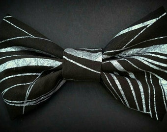 Black & Silver Bow