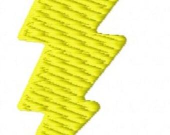 Lightning bolt machine embroidery design 4 inch instant download