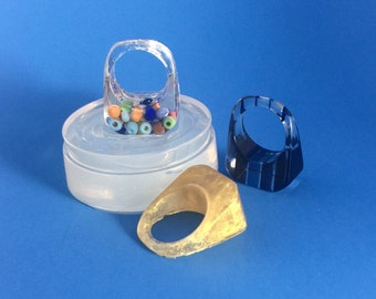 Ring Mold size 8.5. Clear Silicone Mold. Create  Your Own Resin Jewelry (MR113)