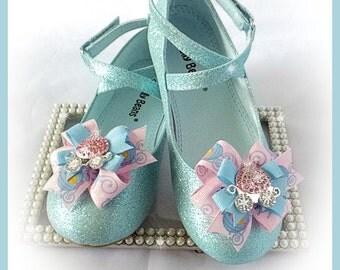 Shoe Bow Clips, Princess Carriage Shoe Bow Clips, Girl Shoe Bow Clips, Toddler Shoe Bow Clips, Photo Prop