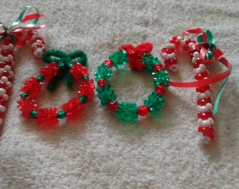 Candy canes and wreaths