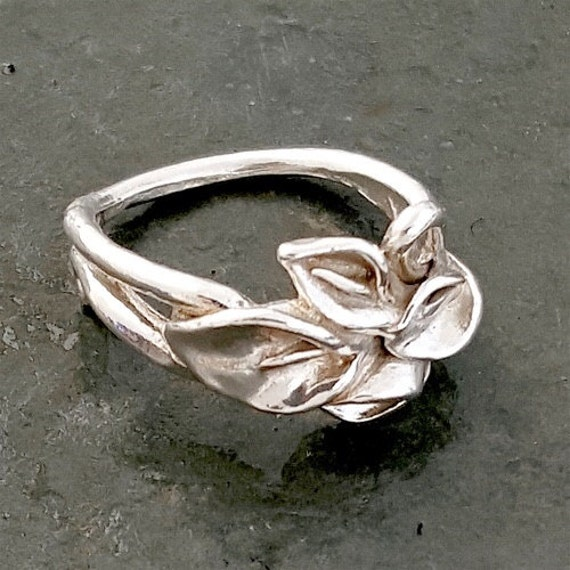 The Calla Lily Bouquet Ring, sterling silver, handmade