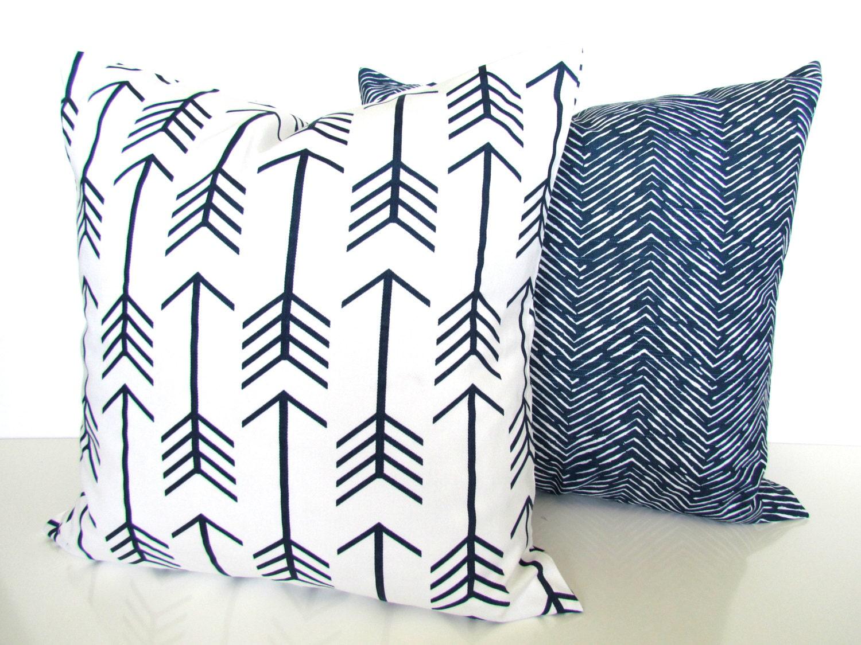 Navy Blue Decorative Bed Pillows: Blue Pillows Blue Throw Pillows Navy Blue By SayItWithPillows